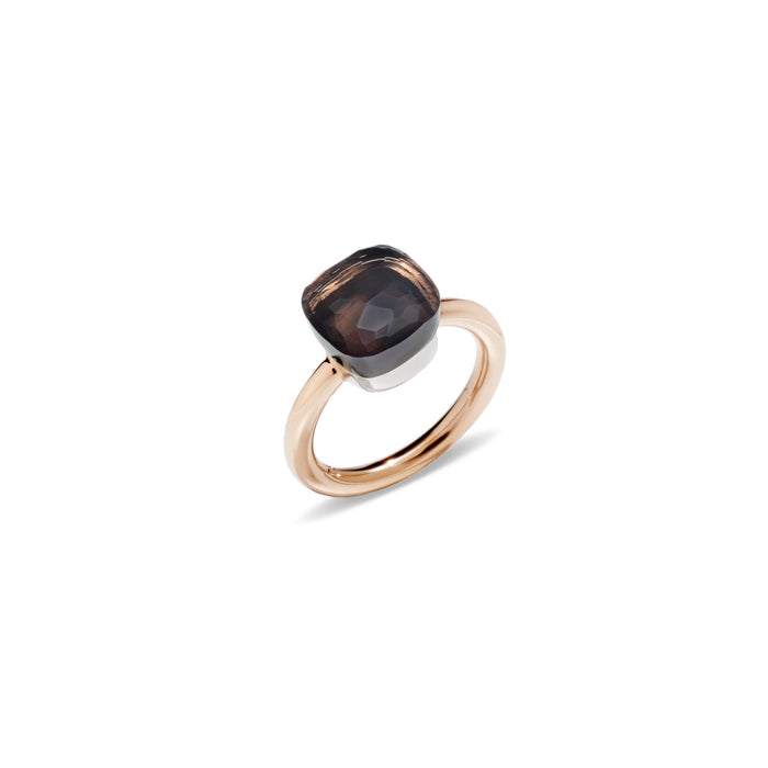 Nudo Classic Ring in 18k Rose Gold and White Gold with Smoky Quartz