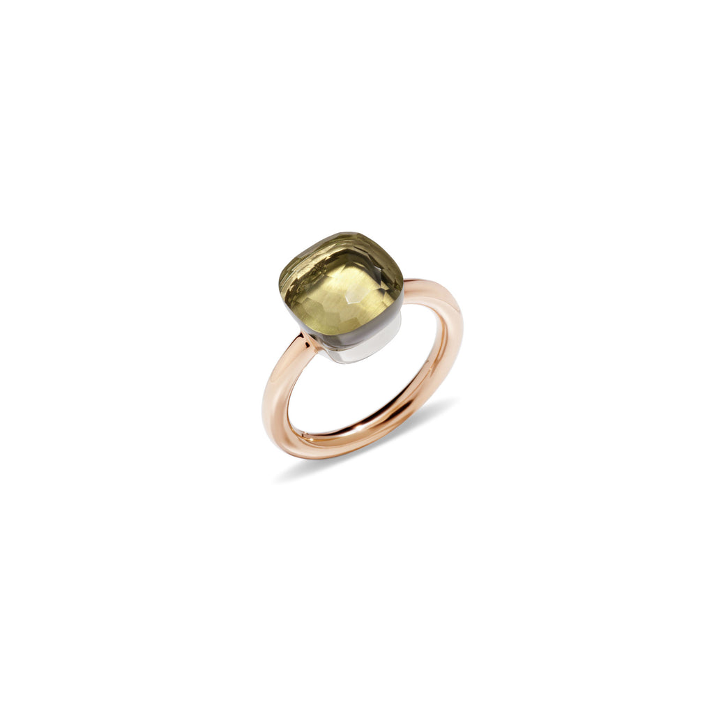 Nudo Lemon Quartz Rose Gold Ring