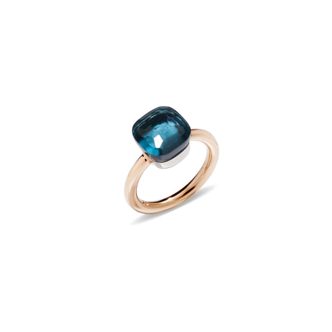 Nudo London Blue Topaz Rose Gold Ring