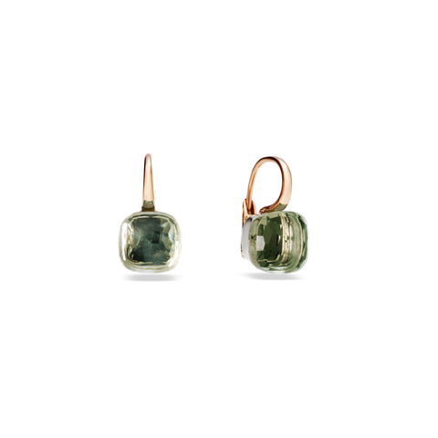 Nudo Green Prasiolite Large Rose Gold Earrings