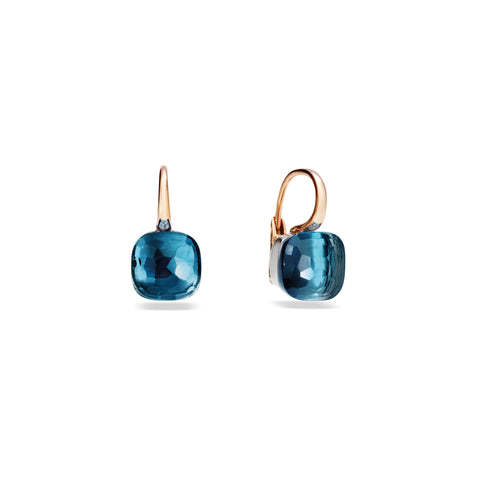 Nudo London Blue Topaz Large Rose Gold Earrings