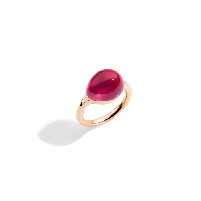 Pomellato Rouge Passion Ring in 9k Rose Gold with Red Ruby