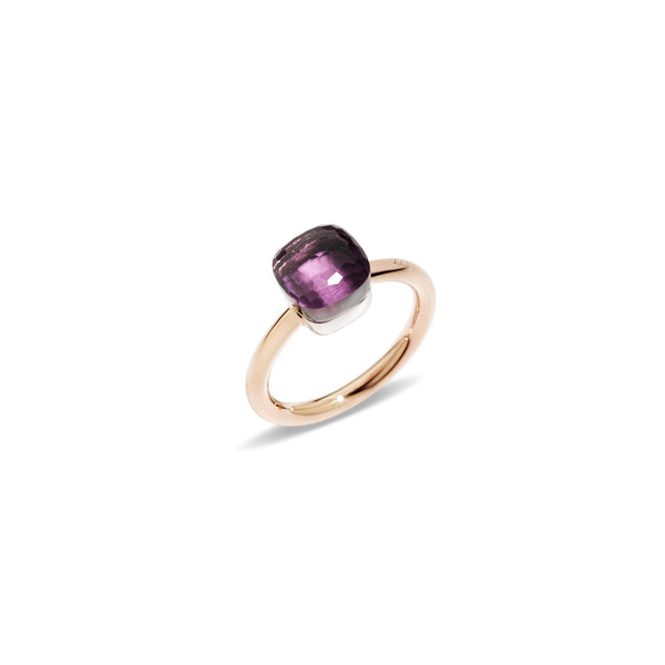 "Nudo ""piccolo"" Small Amethyst Rose Gold Ring"
