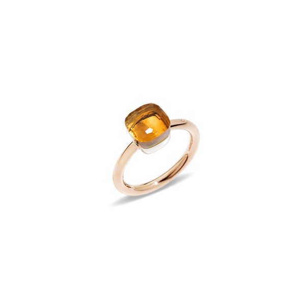 "Nudo ""piccolo"" Small Maderia Quartz Rose Gold Ring"