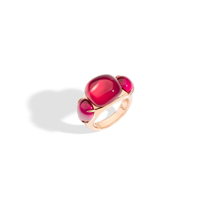 Pomellato Rouge Passion Ring in 9k Rose Gold with Red Rubies
