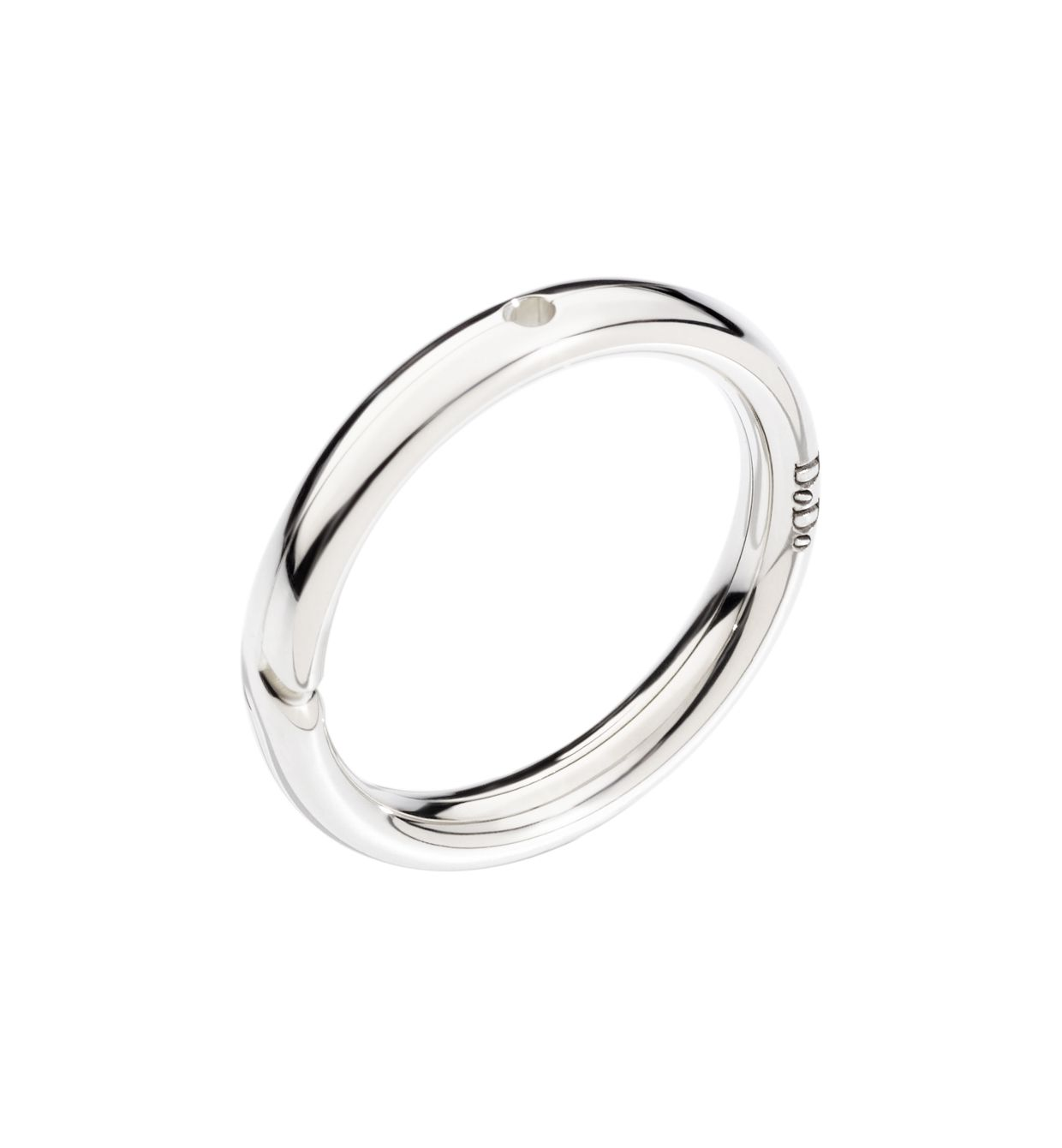 DoDo Brise Ring with Hole for Charm in 9k White Gold - Orsini Jewellers NZ