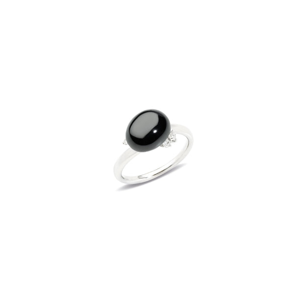 Capri Black Ceramic and Diamond 0.11ct Ring