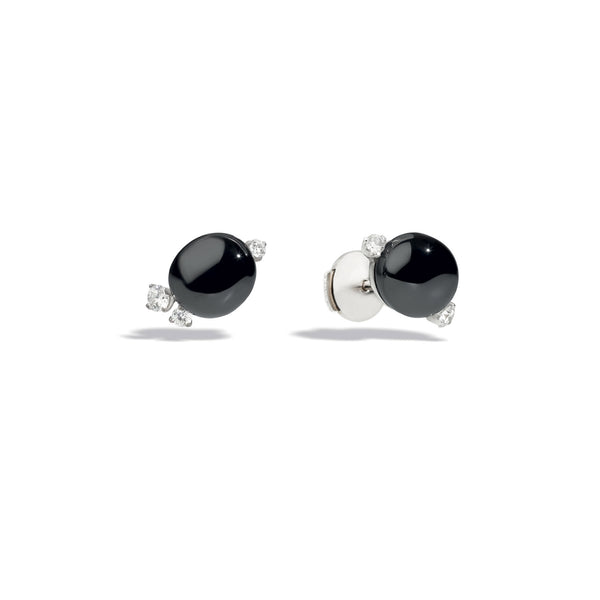 Capri Black Ceramic and Diamonds 0.23ct Earrings