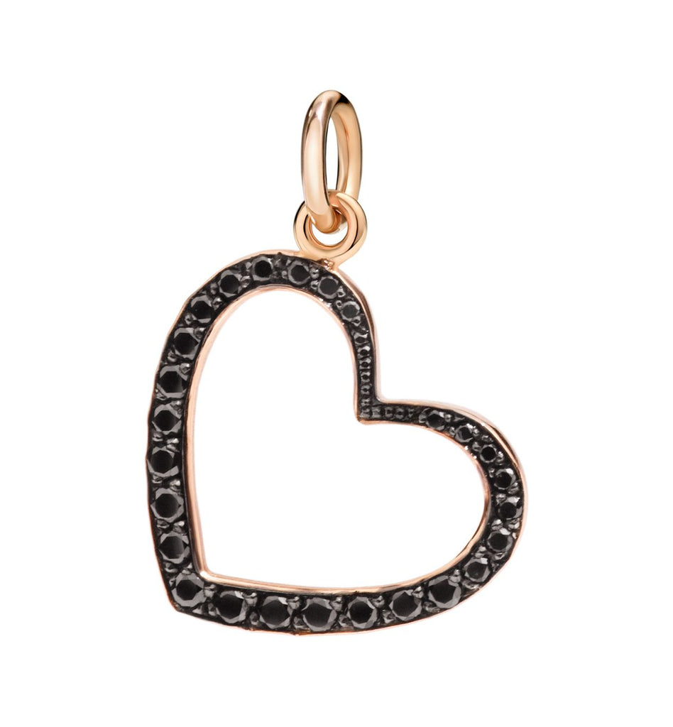 Dodo Heart Silhouette Black Diamonds