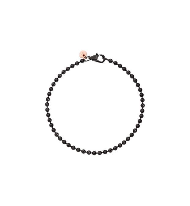 DoDo Bollicine Bracelet in Silver and Black - Orsini Jewellers NZ