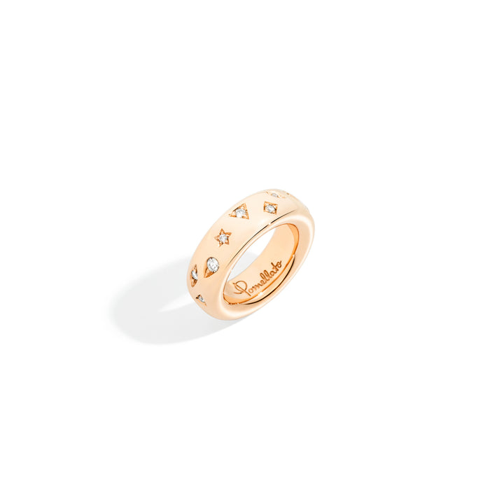 Iconica Ring in 18k Rose Gold with Diamonds (small)