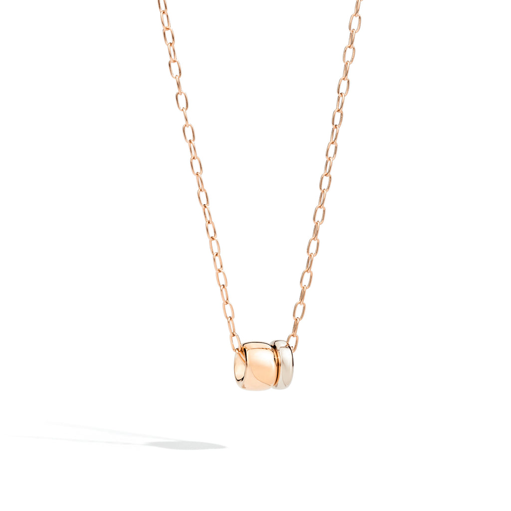 Iconica Rose Gold and White Gold Pendant