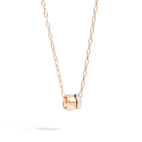 Iconica Rose Gold and Pave Diamond Pendant