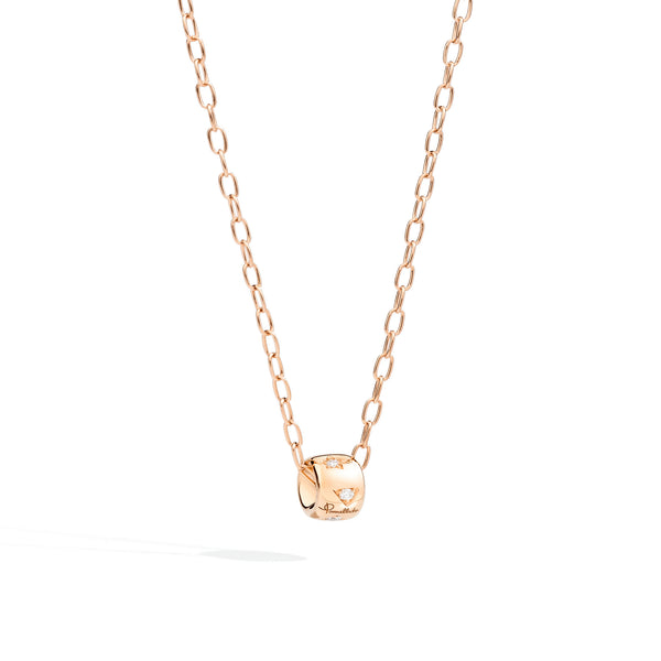 Iconica Rose Gold and Diamond Pendant