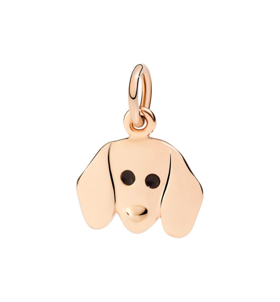 Dodo Dachshund Dog Charm in 9k Rose Gold