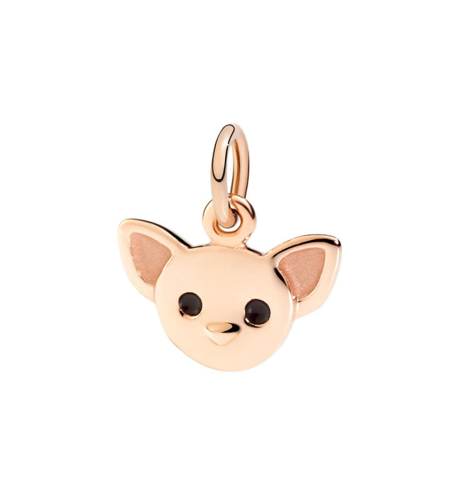 Dodo Chihuahua Dog Charm in 9k Rose Gold