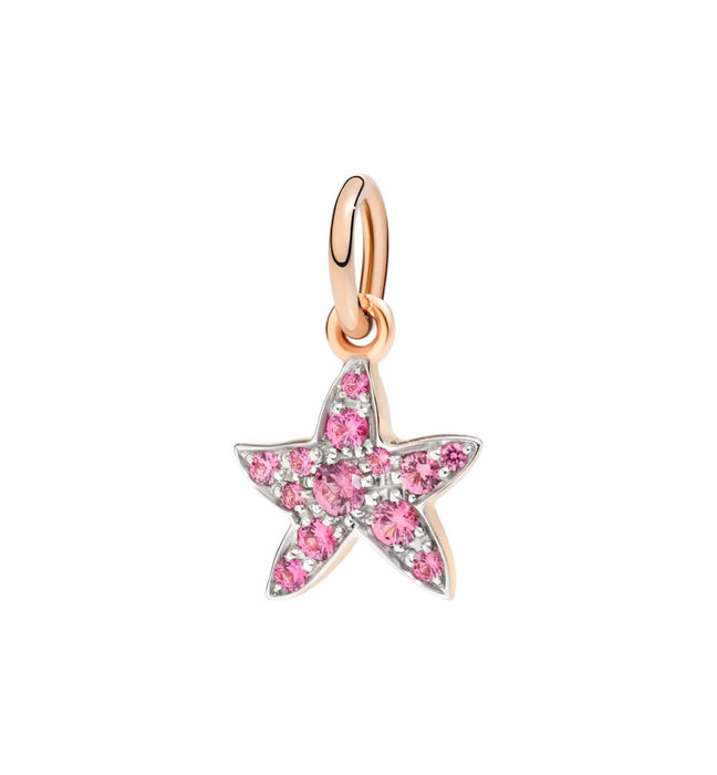 DoDo Star in 9k Rose Gold with Red Spinel
