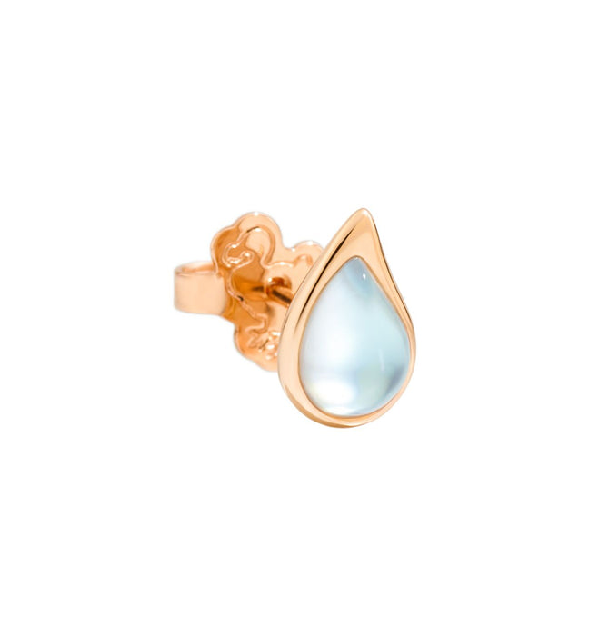DoDo Drop Earring in 9k Rose Gold with Recycled Glass and Mother-of-pearl (single)