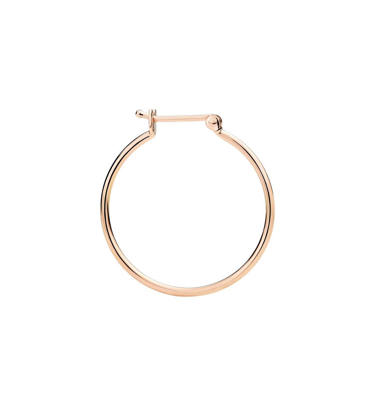 DoDo Bangle Hoop Earring in 9k Rose Gold - large (single) - Orsini Jewellers NZ
