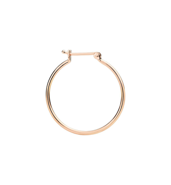 Dodo Hoop Earrings in 9k Rose Gold