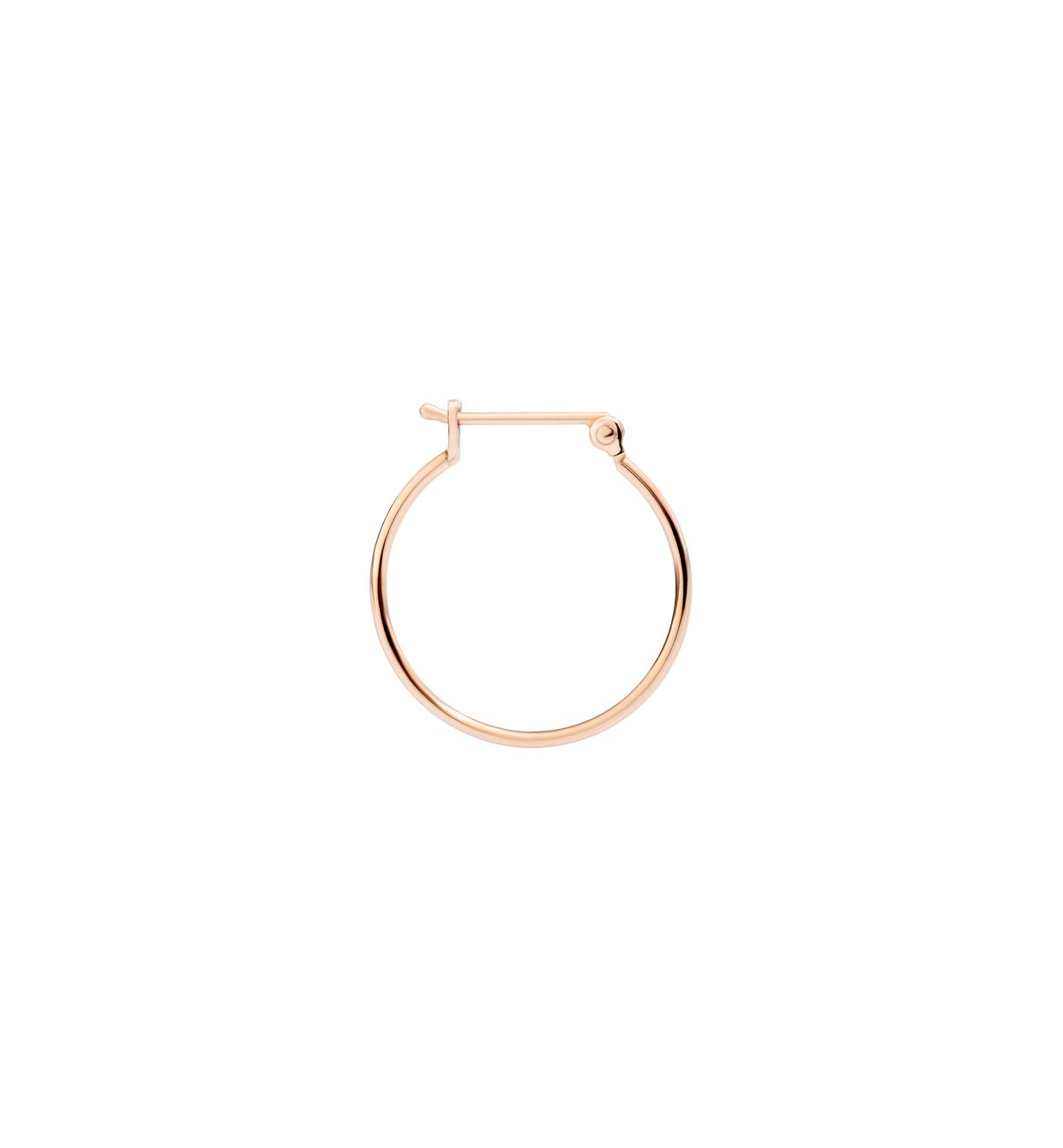 DoDo Bangle Hoop Earring in 9k Rose Gold - small (single) - Orsini Jewellers NZ