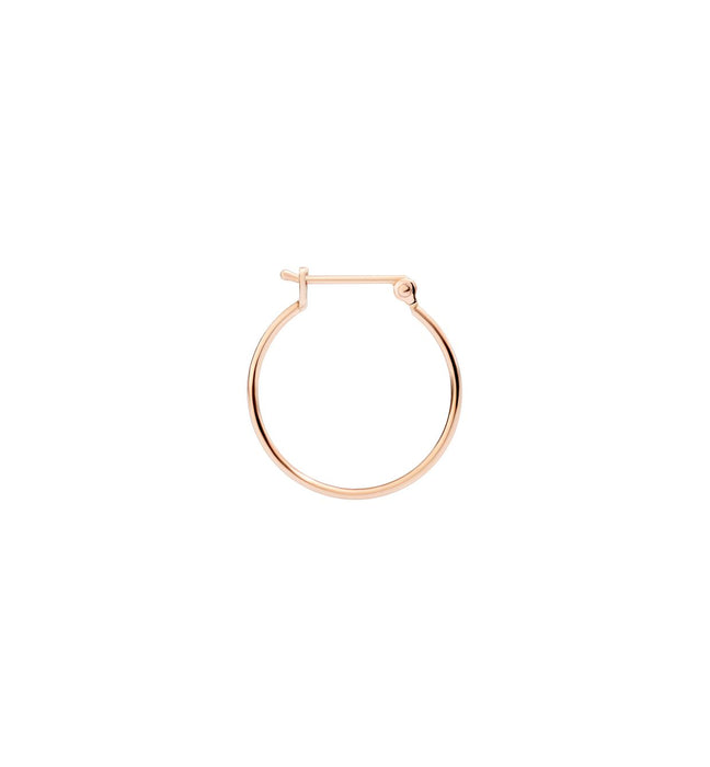DoDo Bangle Hoop Earring in 9k Rose Gold - small (single)