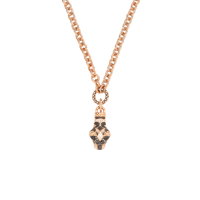 Le Marche' Des Merveilles Tiger Head pendent Necklace.
