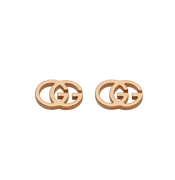 GG Running Stud Earrings in 18k Pink Gold