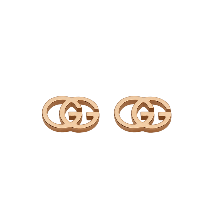 GG Running Pink Gold Tissue Earrings
