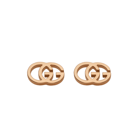GG Pink Gold Tissue Earrings