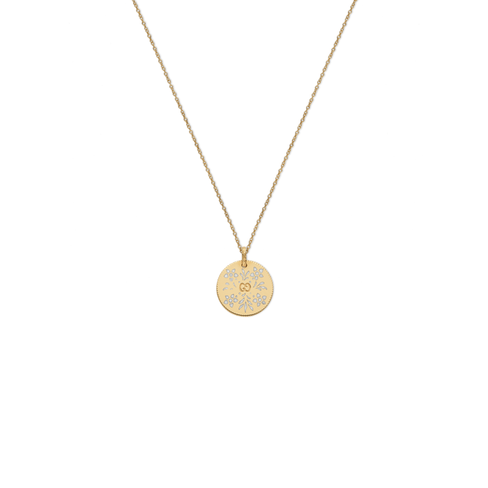 Icon-Blooms-Yellow-Gold-Enamel-Necklace-Guccie-YBB460851003