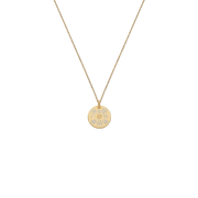 Icon Blooms 18k Yellow Gold and Enamel Necklace