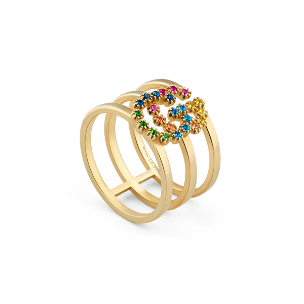 Running-G -yellow-gold-colored-stone-stacked-ring-Gucci-YBC481653002