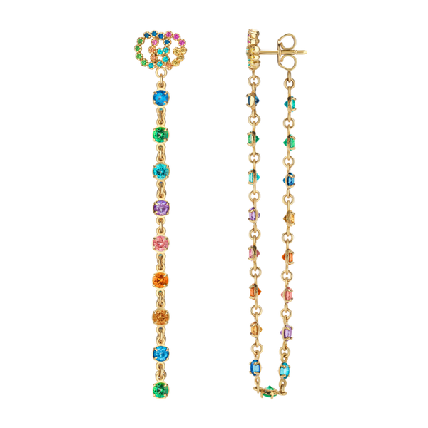 Running-G-18kt-Yellow-Gold-colored-stone-drop-Earrings-Gucci-YBD481696001