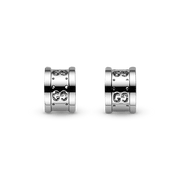 Icon Stud Earrings in 18k White Gold