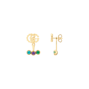 Single GG Running 18kt yellow gold and colored stone Earrings