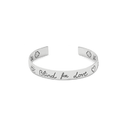 Blind For Love Cuff in Shiny Aged Sterling Silver
