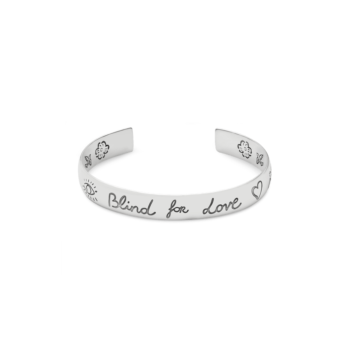 Blind-For-Love-Sterling-Silver-bracelet-Gucci-YBA454287001