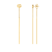 GG Running Drop Earrings in 18k Yellow Gold