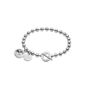 Boule Bracelet in Sterling Silver with GG Charm