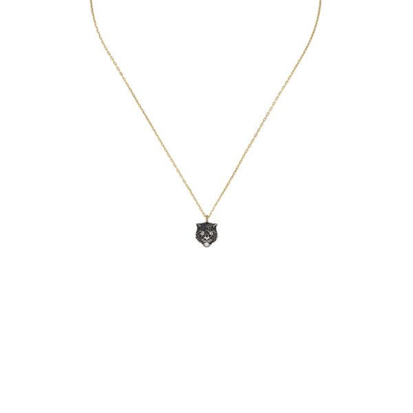 LE MARCHE' DES MERVEILLES 18kt yellow gold, Diamonds, and Tzavorite Necklace