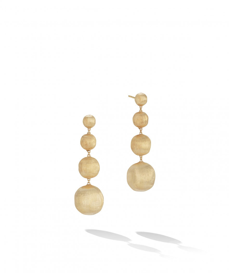 Africa Earrings in 18k Yellow Gold 4 Drop Chandelier - Orsini Jewellers NZ