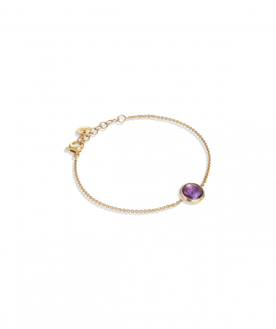 Jaipur Bracelet in 18k Yellow Gold with Amethyst - Orsini Jewellers NZ
