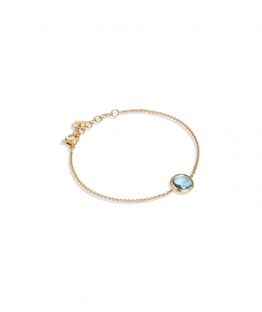 Jaipur Bracelet in 18k Yellow Gold with Sky Blue Topaz - Orsini Jewellers NZ