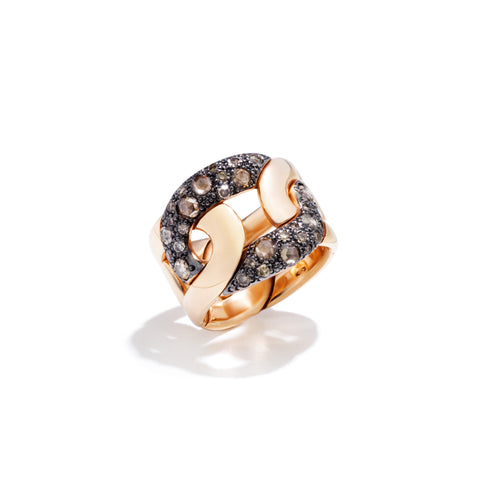 Tango Ring in 18k Rose Gold with 31 Brown Diamonds