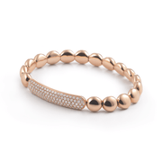 Al Coro Stretchy Bracelet in 18k Rose gold with 104 Diamonds