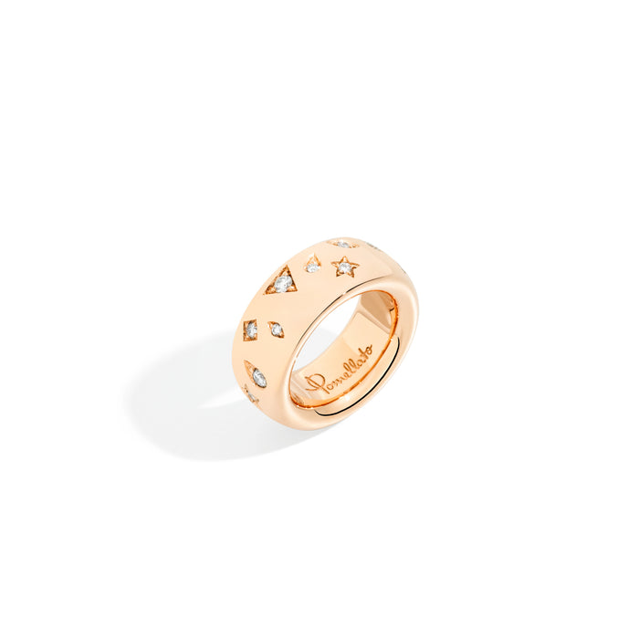 Iconica Large Ring in 18k Rose Gold and Diamonds (0.66ct)