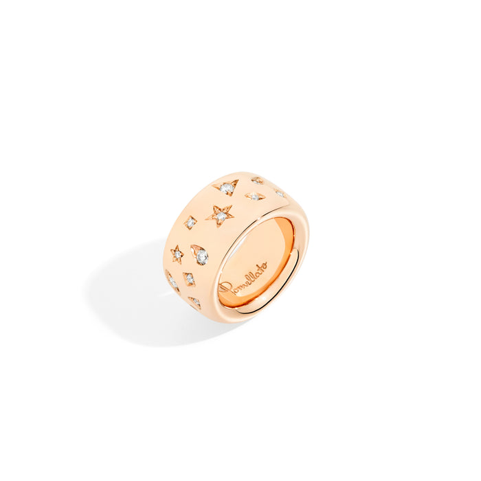 Iconica Maxi Ring in 18k Rose Gold with Diamonds (0.79ct)