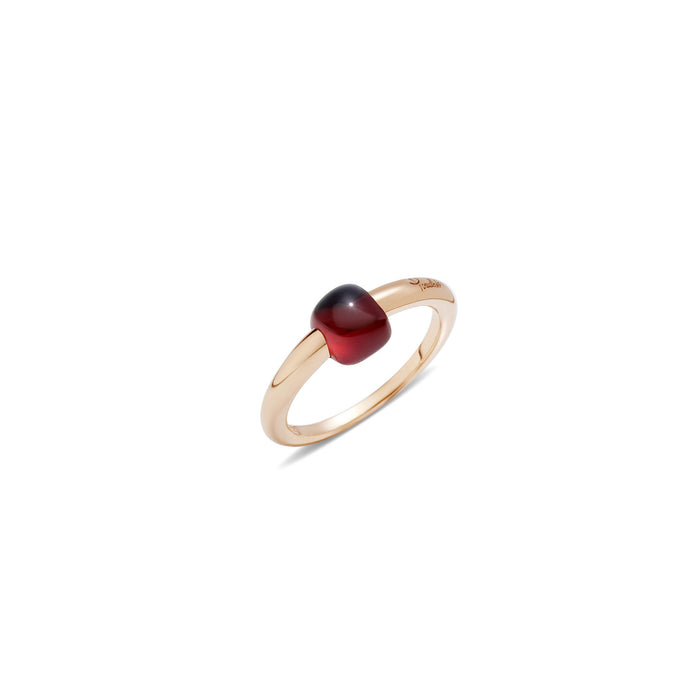 M'ama non M'ama Ring in 18k Rose Gold with Garnet