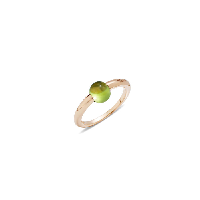 M'ama non M'ama Ring in 18k Rose Gold with Peridot